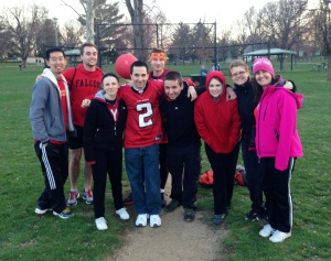 Small group Kickball! (My team)